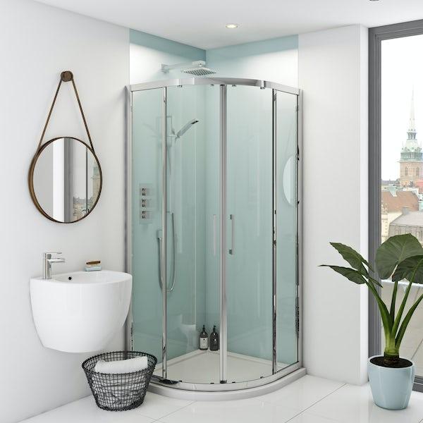Zenolite plus air acrylic shower wall panel corner installation pack 1220 x 1220