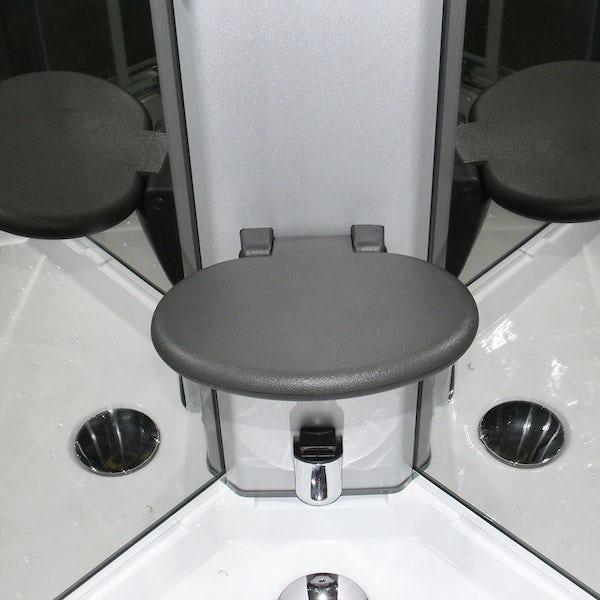 Insignia Premium black framed offset quadrant left handed steam shower cabin