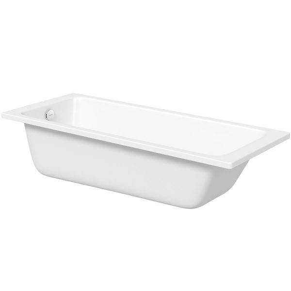 Kaldewei Puro straight steel bath with leg set 1700 x 700 with no tap holes