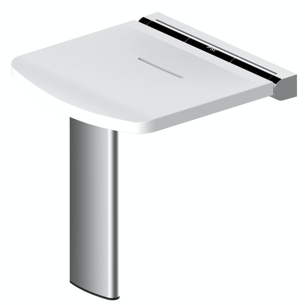 AKW Onyx fold up shower seat white