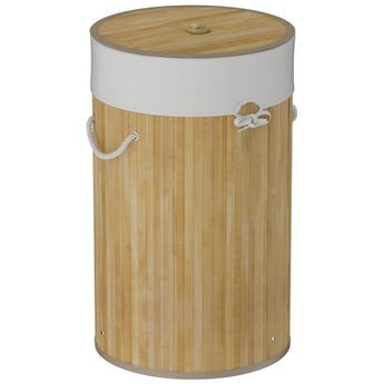 Accents Natural bamboo round laundry basket