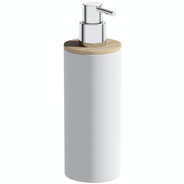 Accents white ceramic soap dispenser