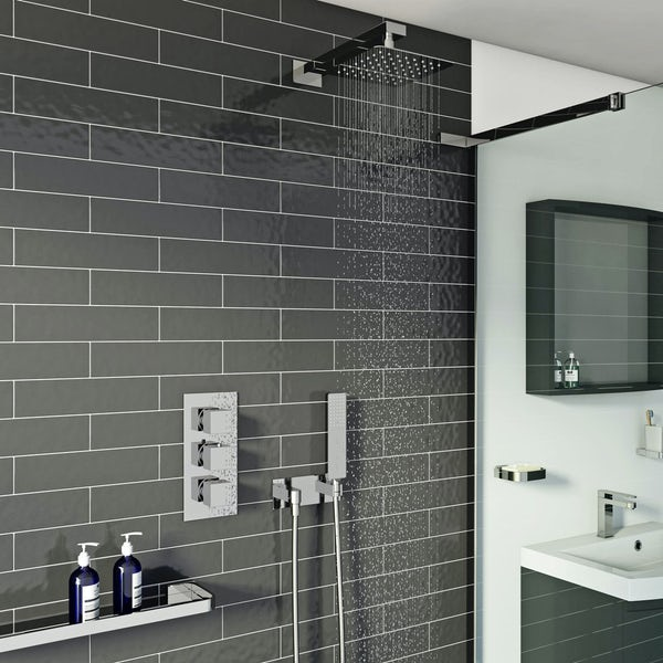 Kirke Connect concealed thermostatic mixer shower with wall arm and handset