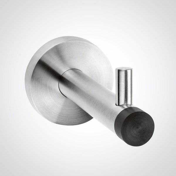 Dolphin commercial satin stainless steel coat hook