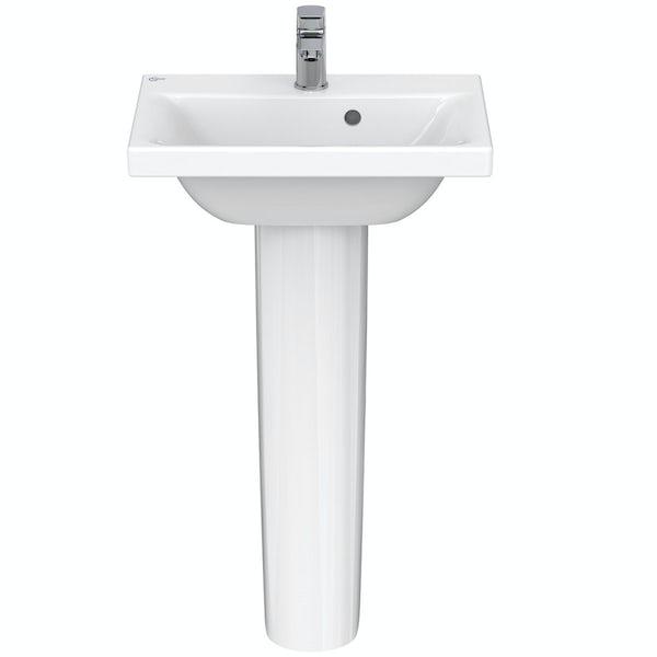 Ideal Standard Concept Space 1 tap hole full pedestal bathroom basin 500mm
