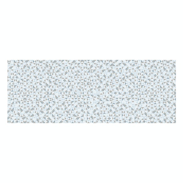 Glacier blue and grey feature gloss wall tile 150mm x 400mm