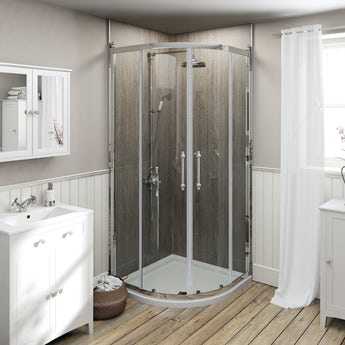 The Bath Co. 8mm traditional quadrant enclosure with stone tray