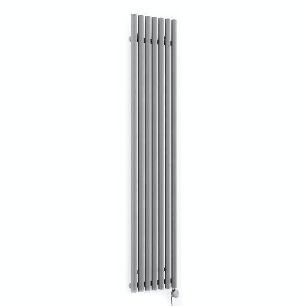 Terma Rolo Room E salt n pepper electric radiator with MOA Blue element - silver