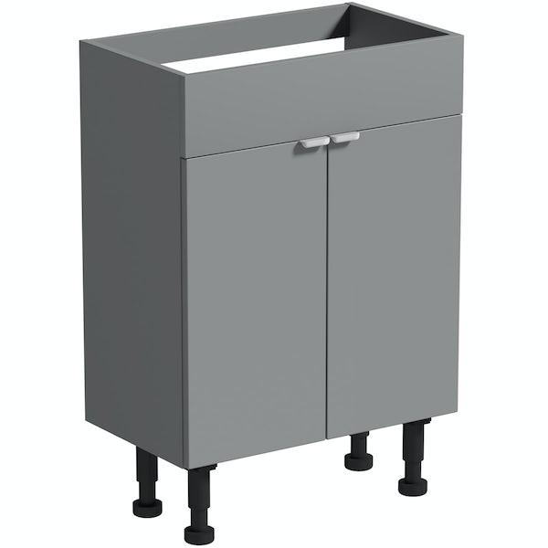 Reeves Wyatt onyx grey floorstanding vanity unit 870 x 600mm