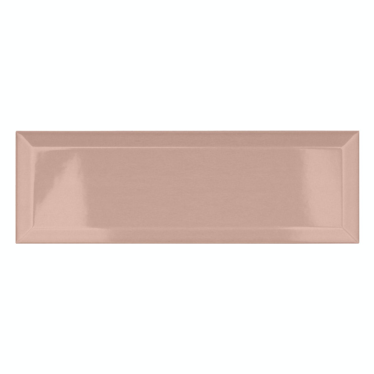Maxi Metro Blush Pink Bevelled Gloss Wall Tile 100mm X