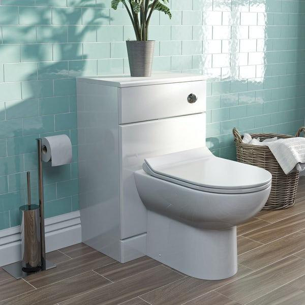 Orchard Eden white back to wall unit and Eden contemporary toilet with seat