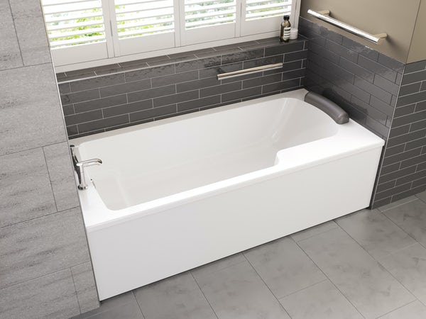Ideal Standard Concept Freedom Idealform Plus left handed shower bath 1700 x 800 with front bath panel and bath waste