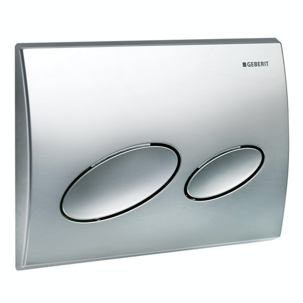 Geberit Kappa20 dual flush plate gloss chrome