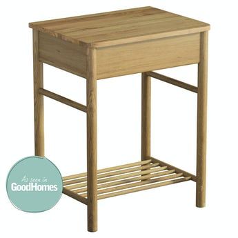 Mode South Bank natural wood washstand with top