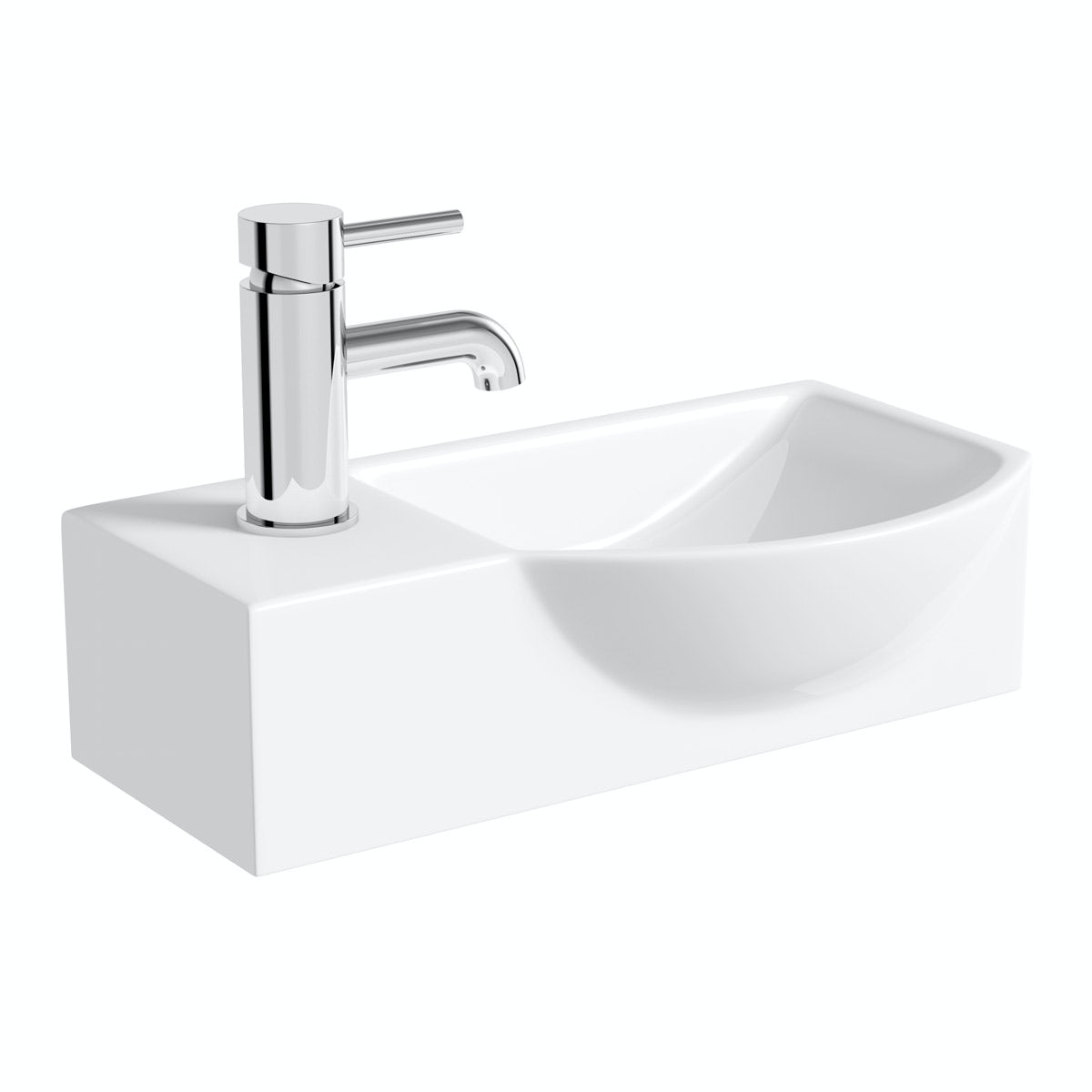 Lugano wall hung basin 410mm