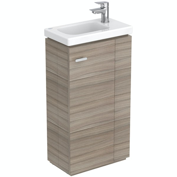 Ideal Standard Concept Space elm floor standing vanity unit and right handed basin 450mm