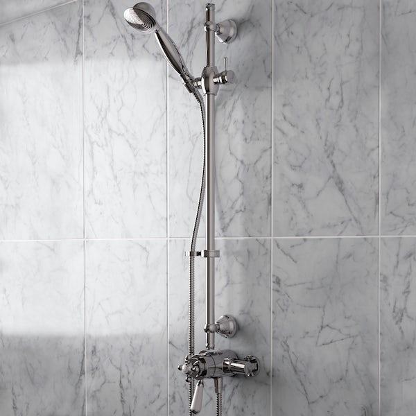 Bristan Regency 2 sequential thermostatic shower valve with slider rail kit