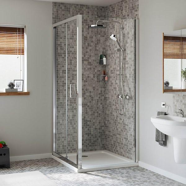 Mira Leap rectangular bifold shower enclosure