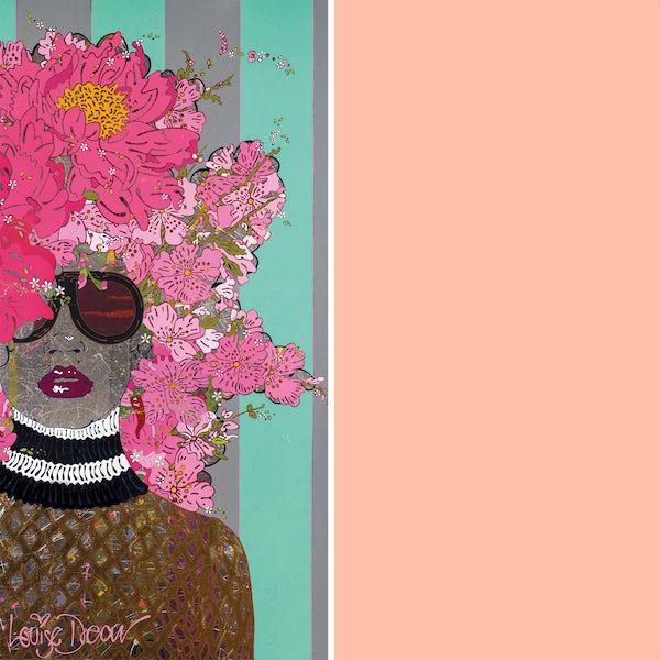 Louise Dear Kiss Kiss Bam Bam Light Pink acrylic shower wall panel pack with rectangular enclosure