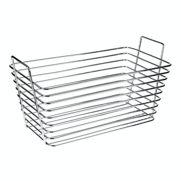 Chrome wire storage basket