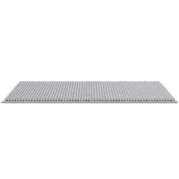 Accents light grey chenile bath mat