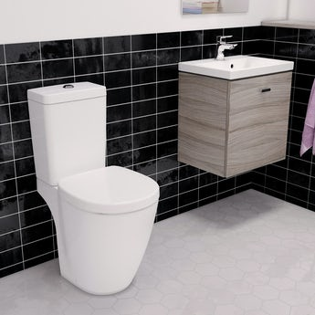 Ideal Standard Concept Space elm vanity unit with close coupled toilet