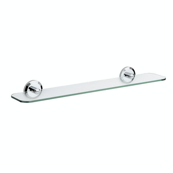Bristan Solo round glass shelf
