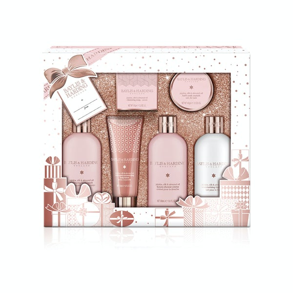 Baylis & Harding jojoba, silk & almond oil tray set