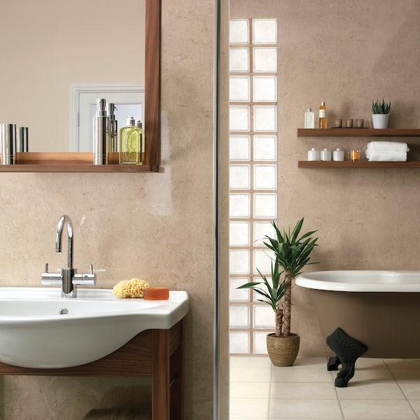 Showerwall Capuccino Marble waterproof shower wall panel