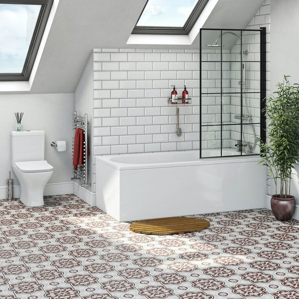 Orchard round edge single ended straight bath