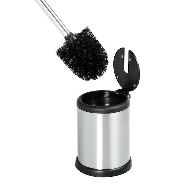 Showerdrape Aero stainless steel satin toilet brush