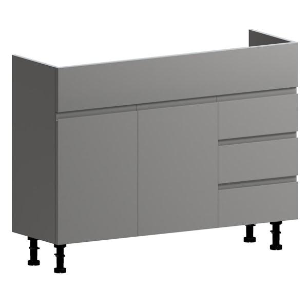 Orchard Wharfe slate grey floorstanding vanity unit 1050mm