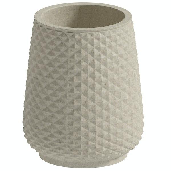 Accents Copacabana cream ceramic 3 piece bathroom set