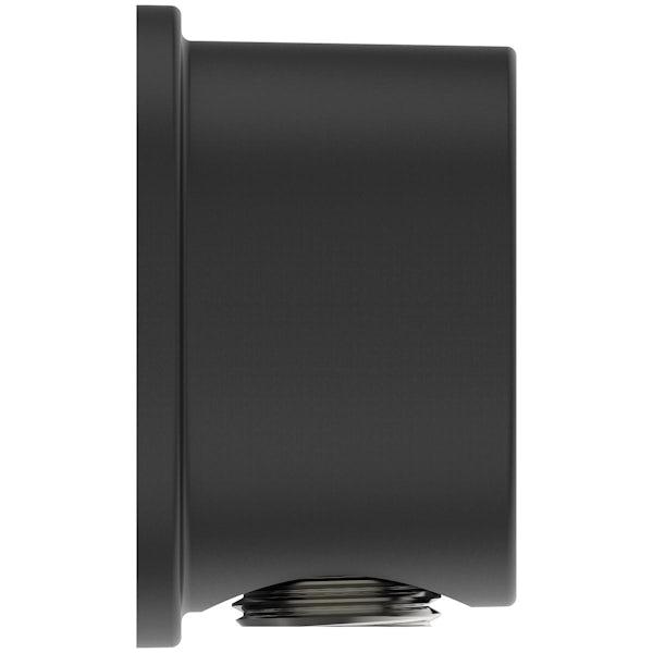 Ideal Standard Idealrain silk black round wall elbow