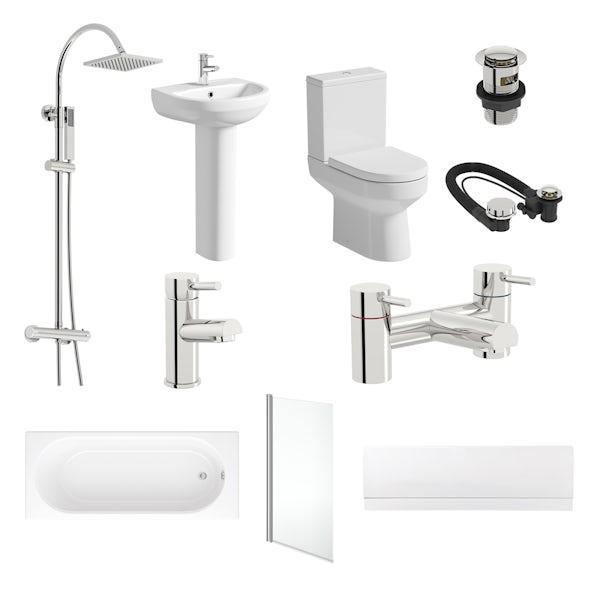 Oakley straight bath complete bathroom package
