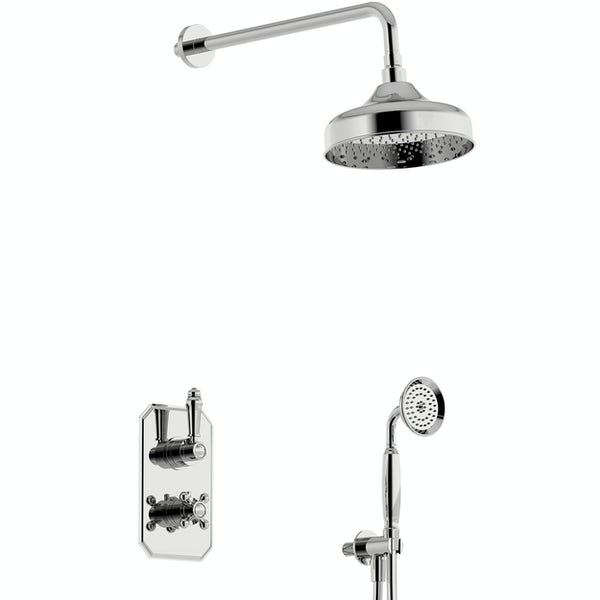 Orchard Dulwich thermostatic twin round shower valve set with handset