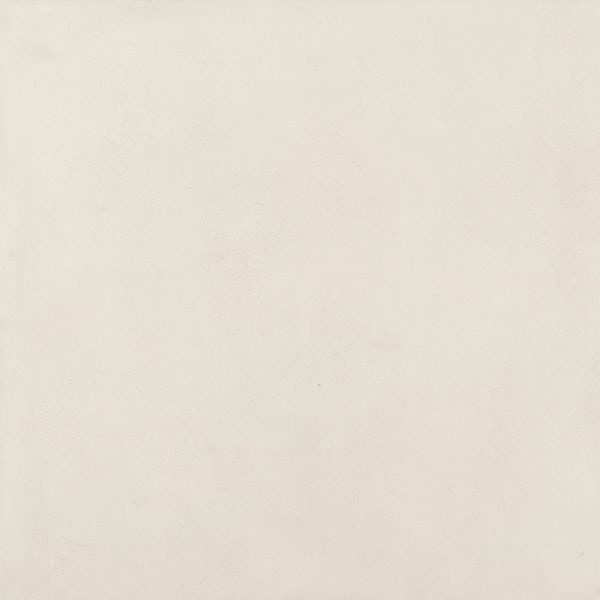 Chard white flat stone effect matt wall and floor tile 750mm x 750mm
