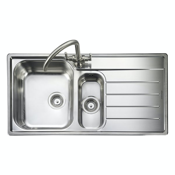 Rangemaster Oakland 1.5 bowl right handed kitchen sink