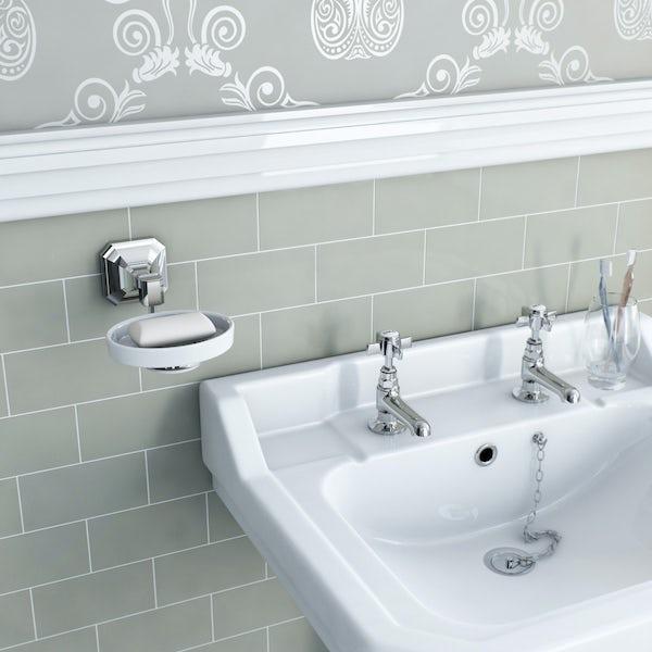 The Bath Co. Camberley 3 piece cloakroom accessory set