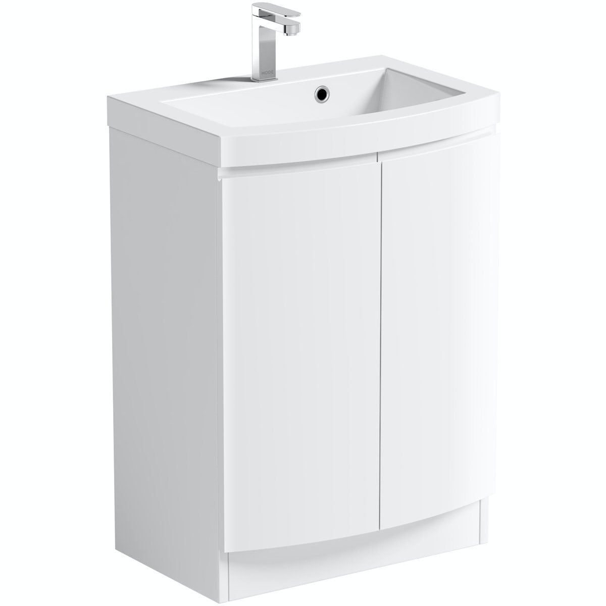 Mode Harrison snow floor standing door unit and basin 600mm