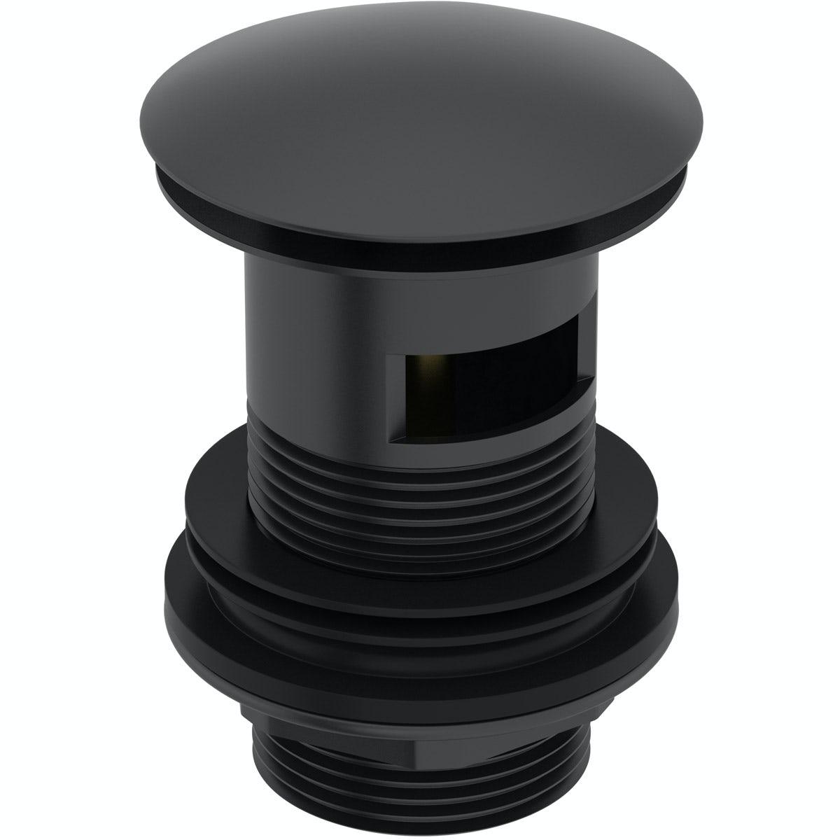 Mode Spencer click clack slotted black basin waste