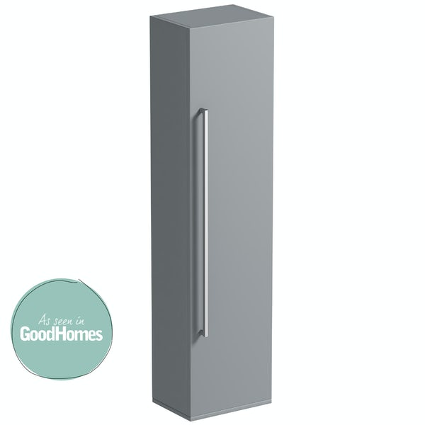 Orchard Derwent stone grey tall storage cabinet