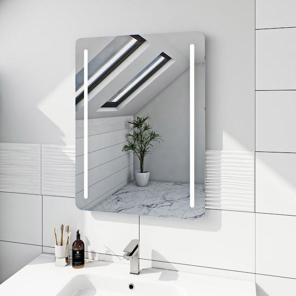 Mode Caylen rectangular LED mirror with demister