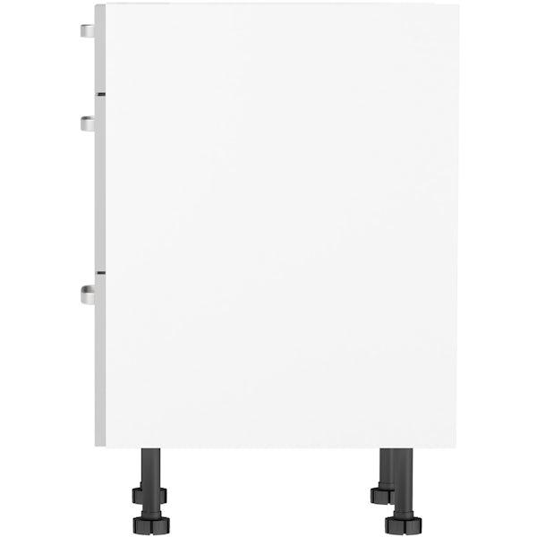 Schon Boston light grey slab 3 drawer unit