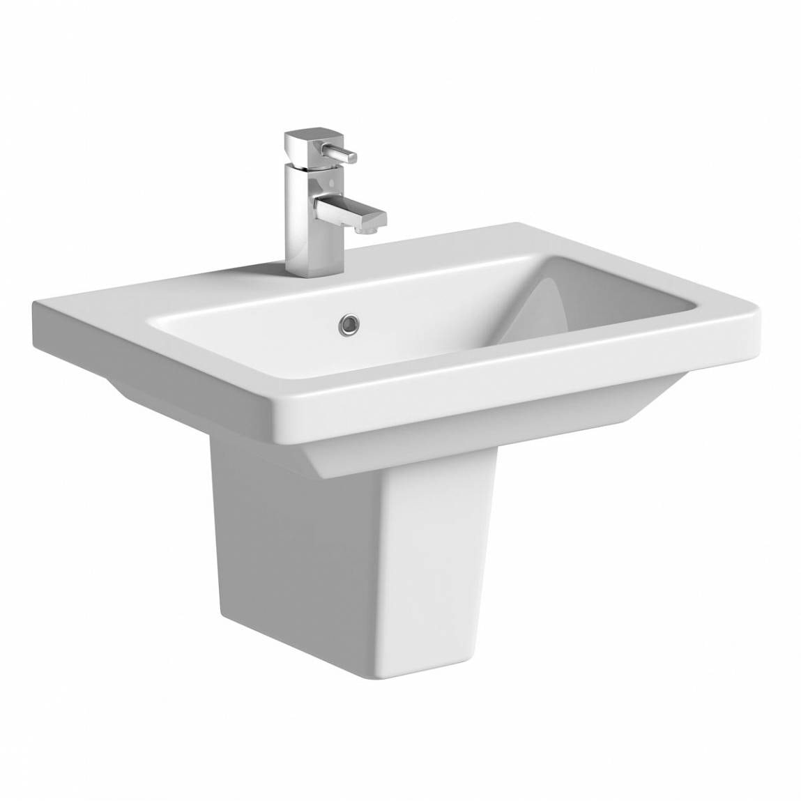 Cooper 1TH 550mm Basin & Semi Pedestal