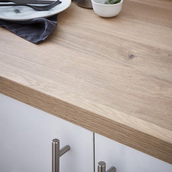 Oasis 38mm natural longbarr oak worktop