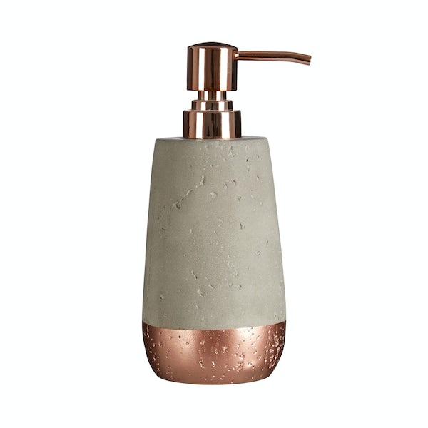 Neptune concrete and copper lotion dispenser