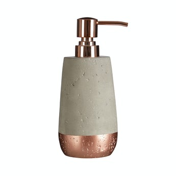 Accents Neptune concrete and copper lotion dispenser