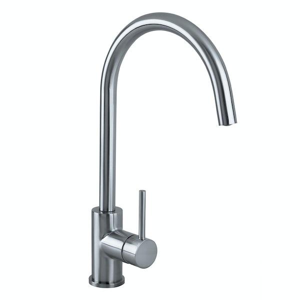 Bristan Pistachio brushed nickel easyfit single lever kitchen mixer tap