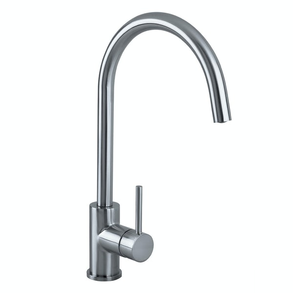 Bristan Pistachio brushed nickel easyfit single lever kitchen mixer tap